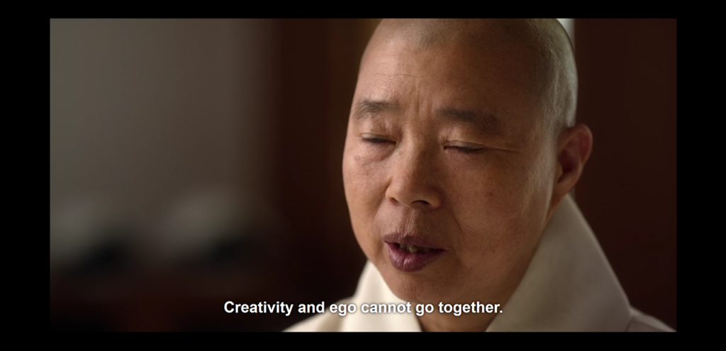 """Jeong Kwan """"Creativity and ego cannot go together."""""""
